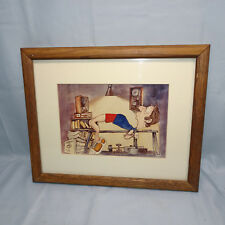 Vintage Dumbbells For Fun - Weight Lifting Framed Print - by S Rachels 1986