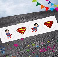 Superman Superhero Stickers (Pack of 12) Party Bags Goody Bag Fillers Boys Girls