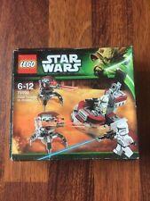 Lego Star Wars 75000 Clone Troopers Vs. Droidekas sin abrir conjunto retirado