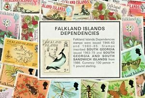 FALKLAND ISLAND STAMP SETS - CHOOSE FROM LIST ALL WITH PHOTO's LOT GB17