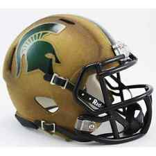 MICHIGAN STATE SPARTANS NCAA Riddell SPEED Authentic MINI Football Helmet MSU