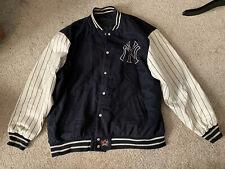 JH NY Yankees Leather Sleeve Jacket