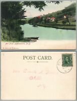 JEFFERSONVILLE N.Y. MILL POND 1906 ANTIQUE POSTCARD