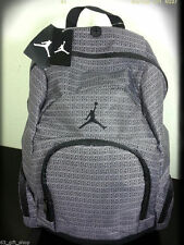 NWT NIKE AIR JORDAN YOUTH BOYS / MEN BLACK GRAY 365 DEUCE BACKPACK LAPTOP BAG