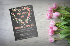 Personalised Hen Party Do Night Invite Invitation X 10 Chalkboard Floral HP3