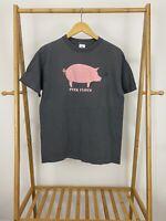 VTG Y2K Pink Floyd Pig Gray Short Sleeve T-Shirt Size M