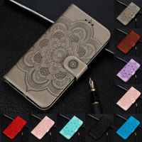 For Xiaomi Mi 9 SE 8 Lite Sunflower Flip Stand Card Wallet Leather Case Cover
