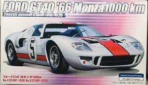 Fujimi 1/24 FORD GT40 '66 Monza 1000 KM Model Kit Item # 12166