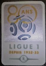 Patch France LFP Ligue 1 80 ans maillot de foot OM PSG OL Monaco Bordeaux 12/13