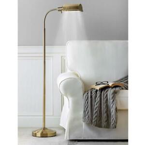 daylight24 Brass Reading Floor Lamp Flexible Gooseneck LED Light