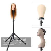 Mannequin Tripod Canvas Block Training Head Wig Display Stand Cosmetology
