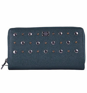 Dolce & Gabbana Unisex Purse Wallet From Dauphine Leather Khaki Green 0475