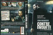 UNIQUEMENT LA JAQUETTE POUR DVD : CONTRE ENQUETE avec JEAN DUJARDIN