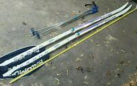 Fischer Crown Base 800 cross country skis Salomon bindings Airtech Rare Vintage