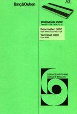 BANG & OLUFSEN BEOMASTER 3000 2000 TERMINAL SERVICE MANUAL BOOK ENGLISH RECEIVER