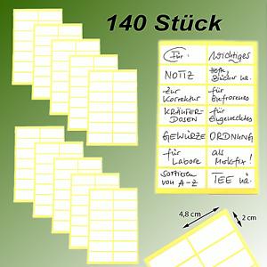 140 Tiefkühletiketten 48x20mm weiß Gefrieretiketten Klebeetiketten selbstklebend