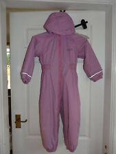 Regatta pink Fleece Lined Waterproof All-in-One rain snow Suit 36-48m 3-4 y