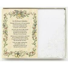 From the Groom to his Godmother Wedding Handkerchief