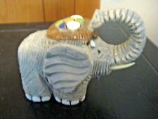 Art Pottery Elephant Raised Trunk Figurine Artesania Rinconada HandMade Uruguay