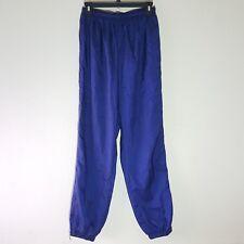 Vintage Blue Adidas Original Trefoil Nylon Sweat Pants Size Small -D3