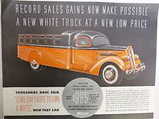 WHITE MOTOR CO 1936 1937 AUTO  TRUCK ADVERT ORIGINAL SAT EVENING POST MAGAZINE