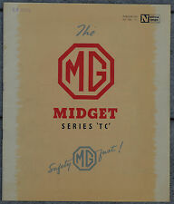 MG TC Midget c1945 Brochure - NEL 111 - excellent condition see all 9 Lg. photos