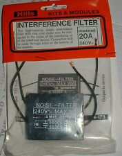 Kemo M41 Interferenza Rete incapsulati suppresion Filtro 10A 240vac