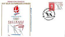 enveloppe 1er jour XVIe Jeux Olympiques d'Hiver - Patinage - 73 Albertville