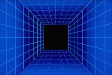 520012 Cuadrado Azul túnel Rejilla A4 Foto Textura impresión