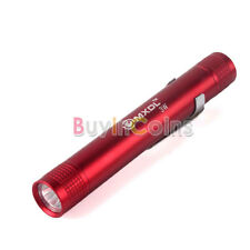 Bright MXDL 3W LED Pen Torch Flashlight 1x AAA Battery Torch With Clip HY #L