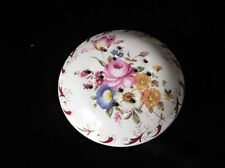 ELEGANT WHITE CHINA POMANDER WITH LOVELY FLORAL BOUQUET DESIGN UNUSUAL SHAPE