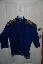 Proma Usa A2 Competition Gear Blue Jacket Champion Gi 4 flags