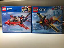 Lego City Race Plane 60177 & 60144 Lot New Sealed Jet Minifig Airshow Retired