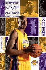 "NBA KOBE BRYANT POSTER ""LICENSED"" LA LAKERS ""BRAND NEW"" MVP ALL STAR"