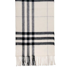 Burberry Classic Cashmere Scarf in Check - Ivory