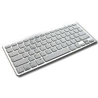 New Slim Silver Bluetooth 3.0 Keyboard KeyPad For PC Tablet Laptop iPad iMac UK
