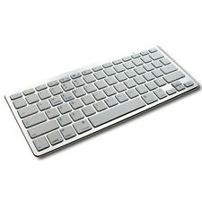 New Slim Silver Bluetooth 3.0 Keyboard KeyPad For PC Tablet Laptop iPad iMac UK