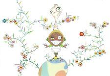 """Takashi Murakami   Kaikai Kiki   """"Yupi w Moss Flow"""" Postcard, 2001, 17,5 x 12 cm"""