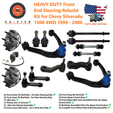 Heavy Duty Front End Steering Rebuild Kit for Chevy Silverado 1500 4Wd 1999 - 06