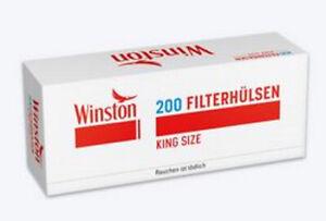 14 x Winston Filterhülsen King Size 200 Stück Packung  (0,55 €/100 Stück)