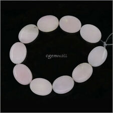 10 Pink Peruvian Opal Flat Oval Beads 15x20mm #76171
