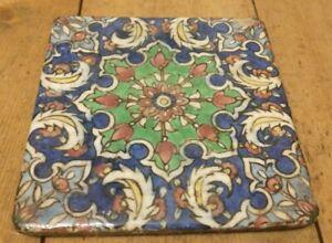Antique Fireplace Tile Art Nouveau Reclaimed Tile