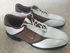 NIKE Mens White/Brown Golf Shoes Size UK 10 EUR 45