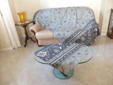 Granfoulard Bassetti 270x270 DHAMBAD blu grigio copridivano telo sofa cover
