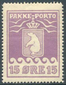 Greenland, 1915, Polar Bear, Parcel stamp, 15 øre