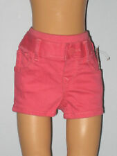New BABY GAP Size 3-6 Months Girls Pink Coral Pull-On Denim Shorts