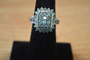 2.00ct Narsipatnam Color Change Alexandrite Ring Platinum over Fine Silver Sz 5
