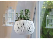 More details for hanging round plant lovely design pot planter outdoor indoor ceramic effect