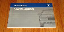 Original 1986 Mercedes Benz 300SDL 300 SDL Turbo Owners Operators Manual