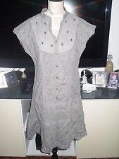 Robe grise foncé dentelle femme PROMOD taille 38